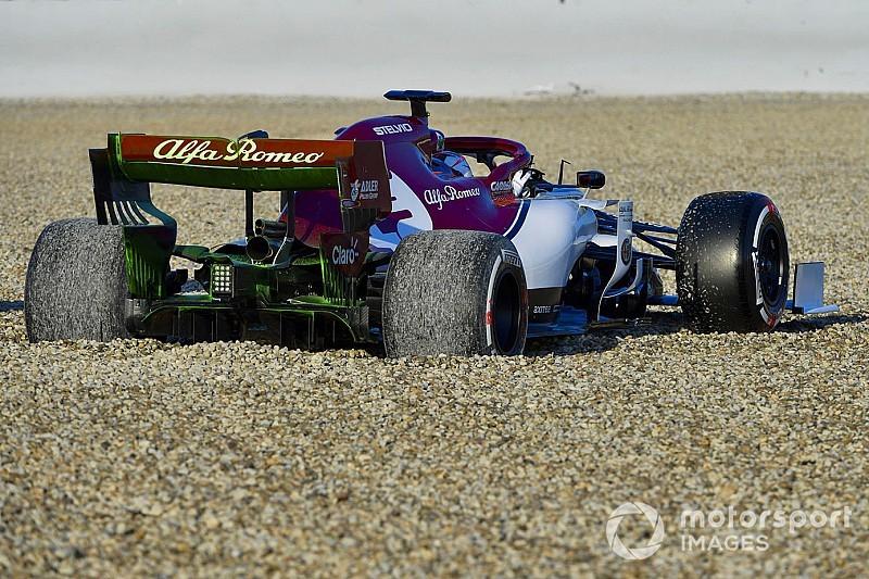 Fotostrecke: Der Unfall von Kimi Räikkönen beim Formel-1-Test
