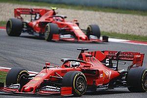 """Ferrari vive novo """"drama"""" com Vettel e Leclerc e vê Mercedes disparar no Mundial"""