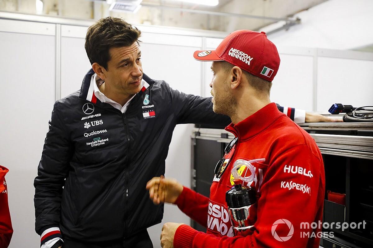 Wolff ontkent rol in gesprekken tussen Aston Martin en Vettel