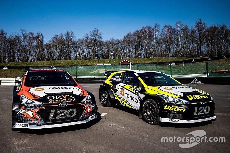 Rallycross przy sztucznym oświetleniu