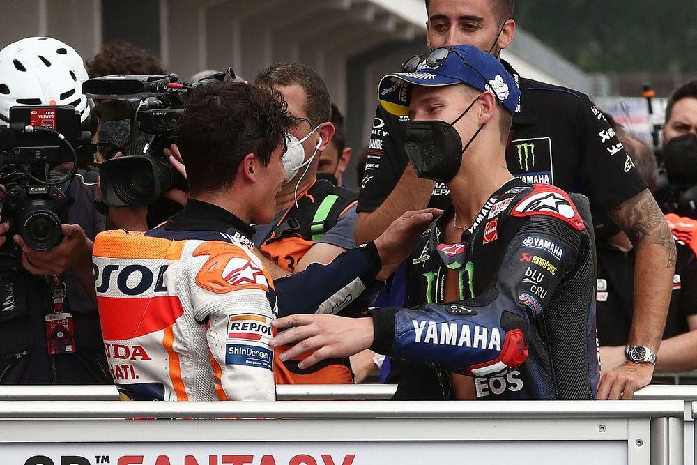 """Márquez: """"Si tengo que apostar por el título, lo haría por Quartararo"""""""