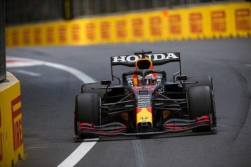 Azerbaijan GP under late red flag after Verstappen tyre failure