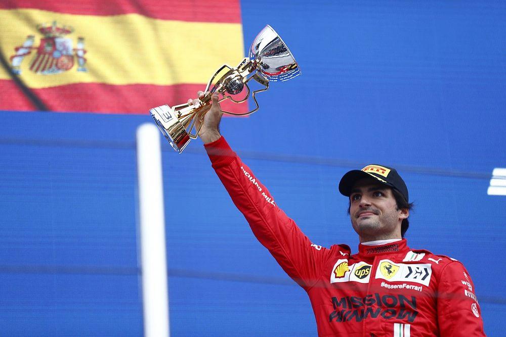Sainz: Good sign Ferrari has made most of F1 podium chances