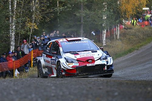 WRC Finland: Evans storms into the lead, Rovanpera crashes out