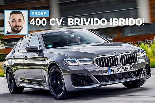 BMW Serie 5, la prova del prototipo 545e xDrive Plug-in da 400 CV