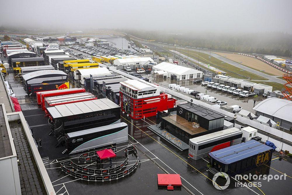 F1アイフェルFP2:視界不良の影響続き、またも走行できず。各車1周も走れず初日が終了