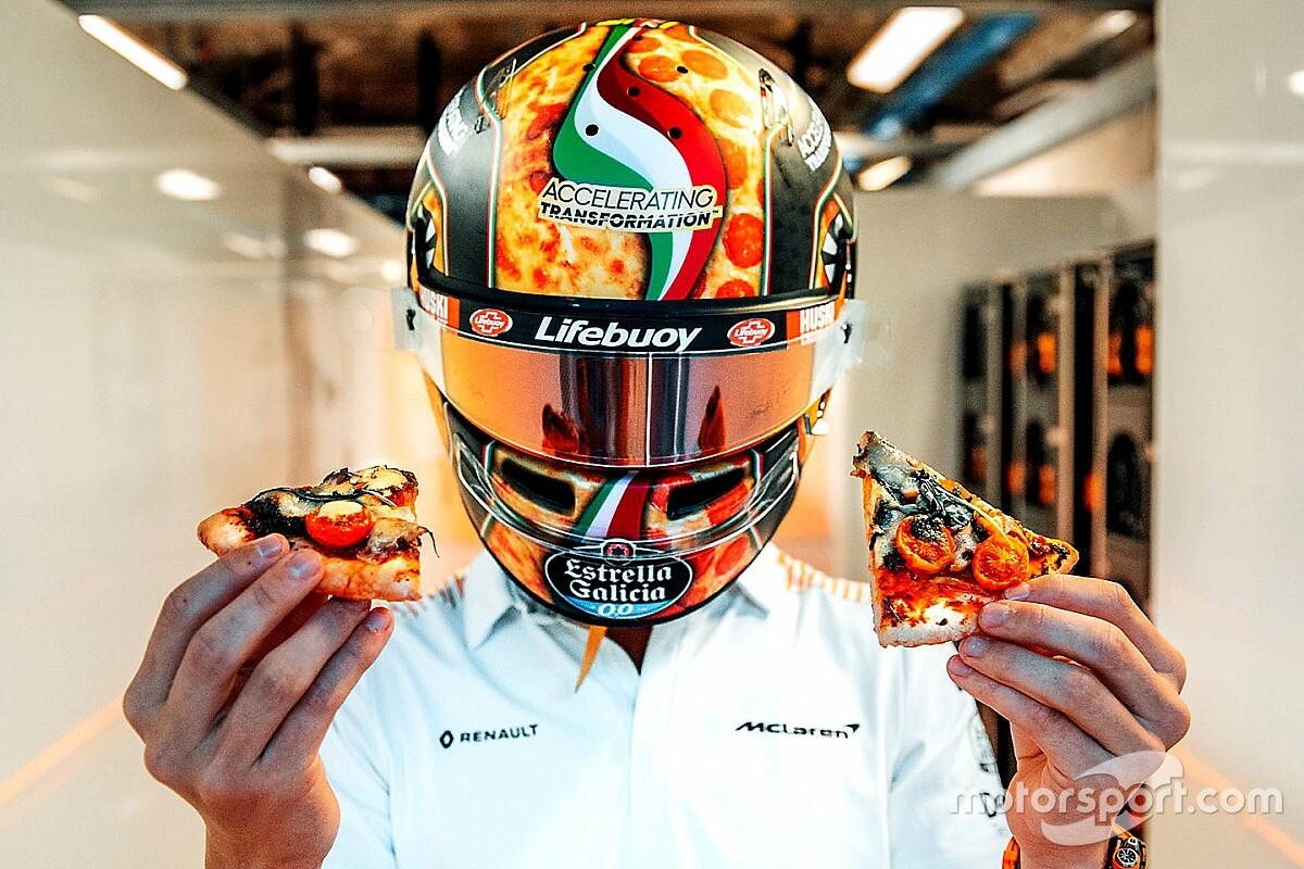 GALERÍA: los cascos de Norris y Giovinazzi para Italia