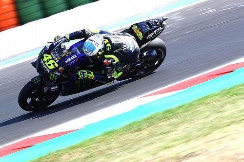Rossi alabó el trabajo de Bagnaia tras perder la pole en Misano