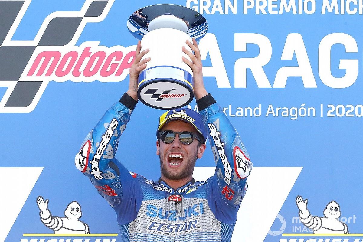 """Rins na derde MotoGP-zege: """"Was moeilijk om kalm te blijven"""""""