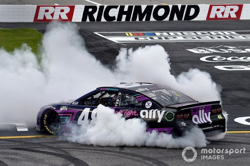 Richmond NASCAR Cup: Bowman snatches late win from long-time leader Hamlin