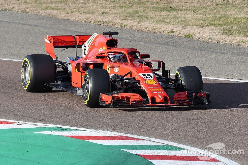 F1: Sainz faz sua estreia com Ferrari nos testes de Fiorano a bordo do carro de 2018