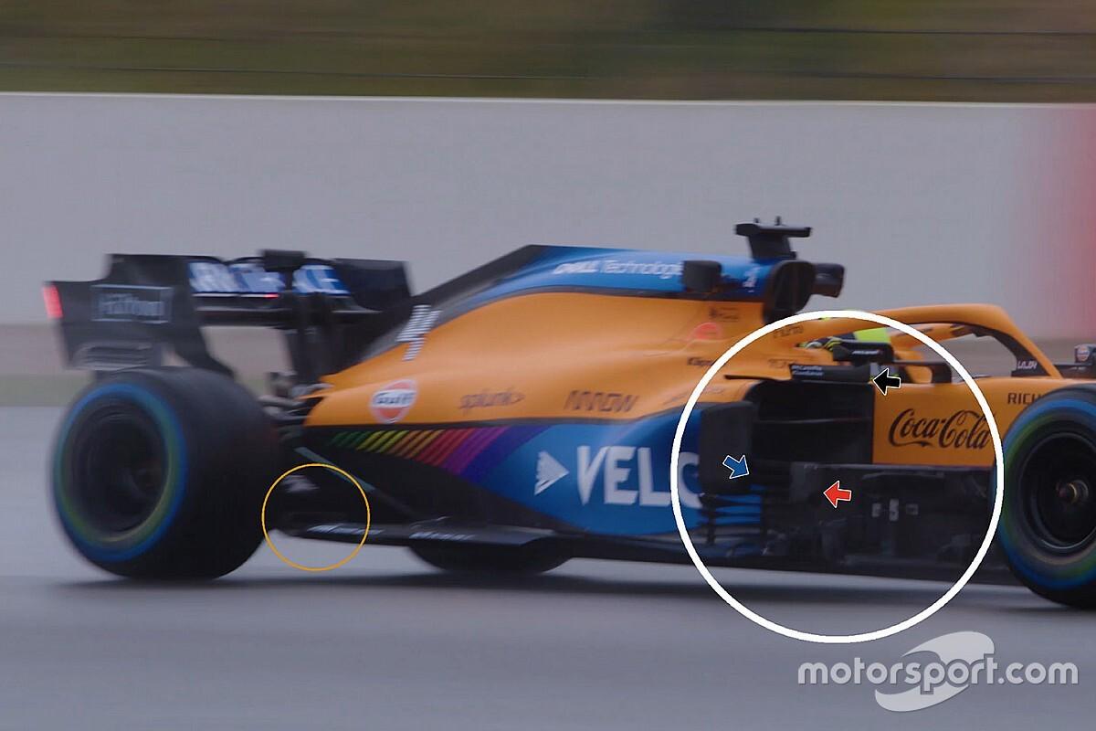 McLaren MCL35M: a Silverstone con le prime modifiche