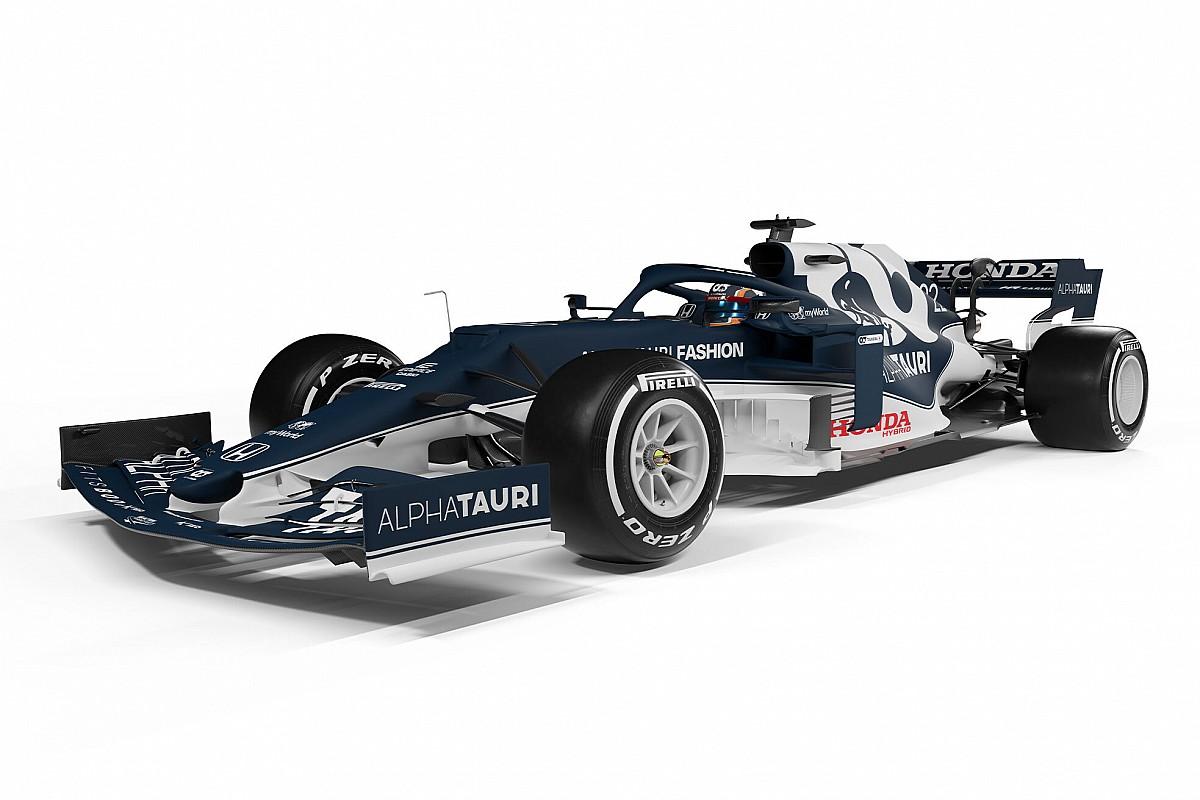 """アルファタウリ・ホンダ、新車『AT02』発表。角田裕毅の記念すべきF1""""第1号機"""""""