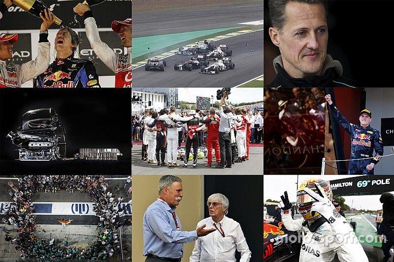 Top 10: hechos y momentos clave de la década de F1