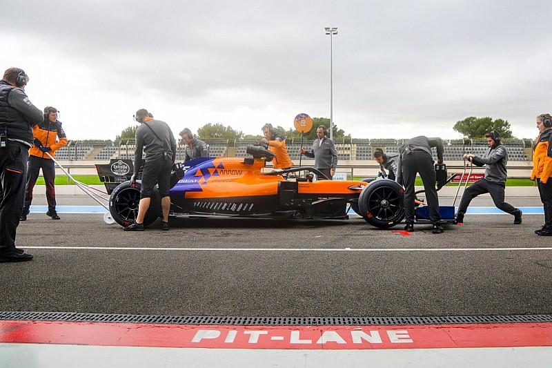 McLaren 18 inç lastikleri test ediyor