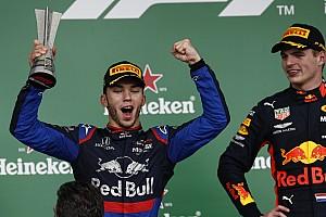 """Hamilton et Verstappen saluent le podium """"incroyable"""" de Gasly"""
