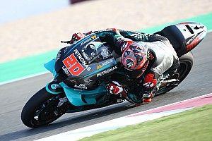 Quartararo leads second day of test, heavy crash for Marquez