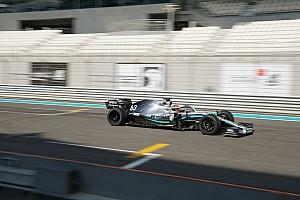 Test Pirelli: Russell prova le 18 sulla Mercedes ad Abu Dhabi