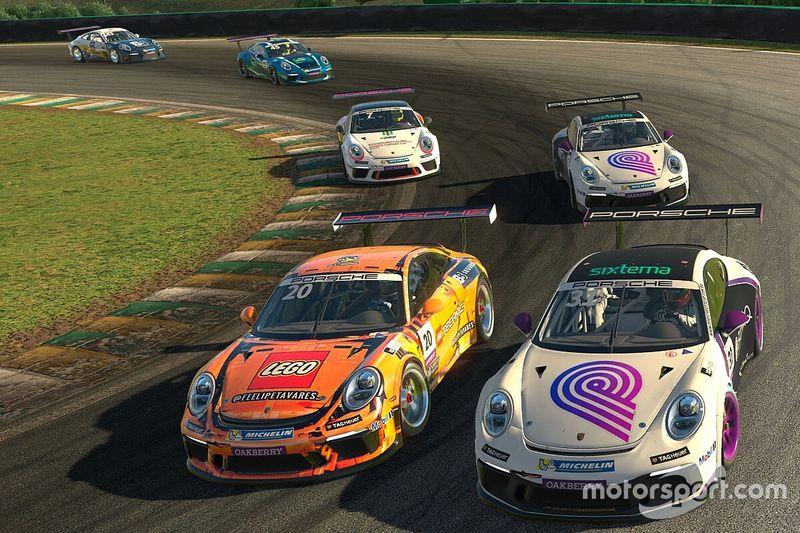 Jeff Giassi e Luis Felipe Tavares vencem etapa de Interlagos pela Porsche Esports Carrera Cup
