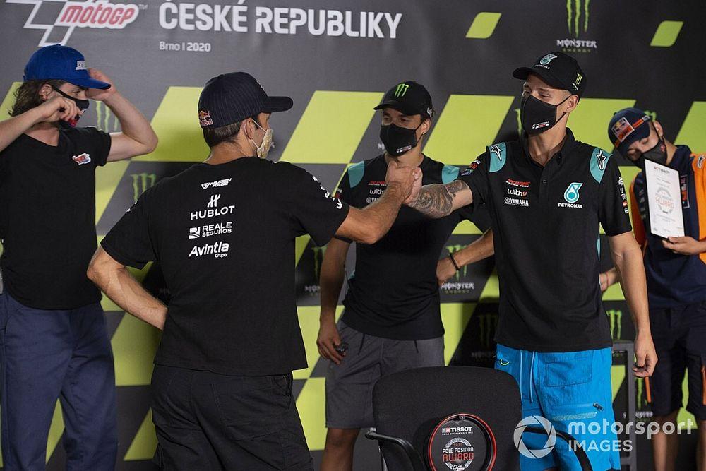 Avintia apologises for celebrating pole as Quartararo crashed