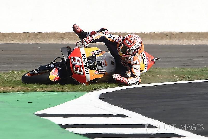 Márquez criticó el reasfaltado de Silverstone