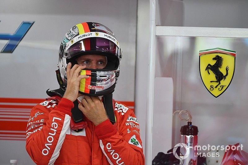 Vettel niet in paniek na licht contact met de muur