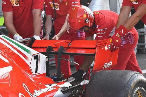 Ferrari: ala posteriore molto scarica e sfoghi delle pance ancora più scavate