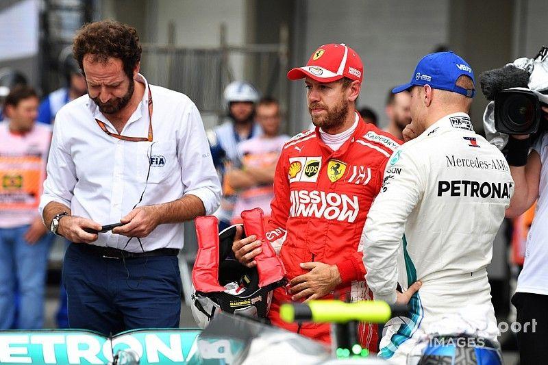 Vettel sufre reprimenda y multa tras la calificación en Brasil