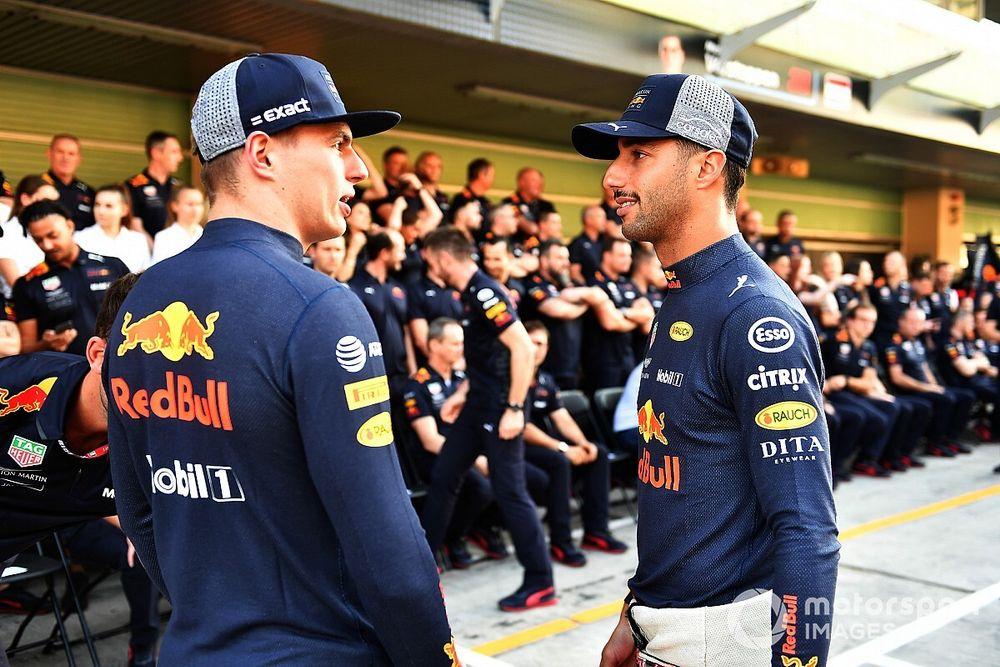 """Ricciardo responde a Horner y su acusación de """"huir"""" de Verstappen"""