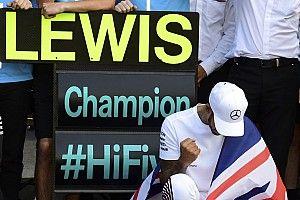 Képeken az ötszörös F1-es világbajnok Hamilton ünneplése Mexikóból