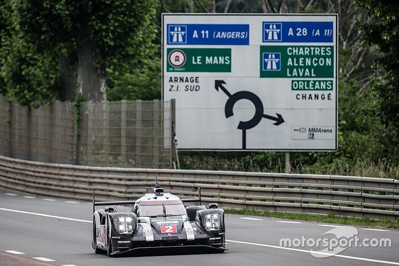 Porsche marca el ritmo en la mañana del test de Le Mans