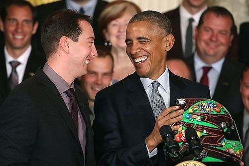 Kyle Busch meets with President Obama at the White House