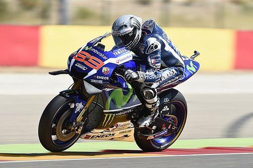 Lorenzo says warm-up crash helped him finish second
