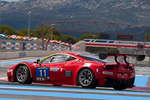 Scuderia Praha Ferrari leads after the first part of the 12H Mugello