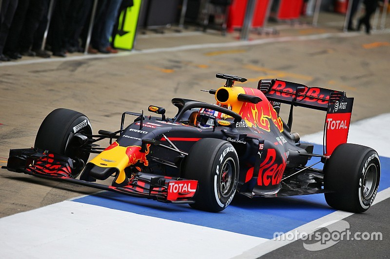 Red Bull tries out Halo at Silverstone test