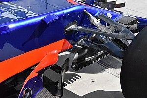 Toro Rosso: il turning vanes diventa una griglia di slot sul marciapiede