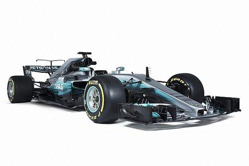 Bildergalerie: Studiofotos des neuen Mercedes W08 für F1 2017