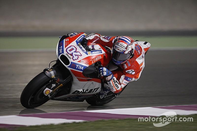 Tes Qatar: Dovizioso dominasi hari pertama, Marquez terjatuh dua kali