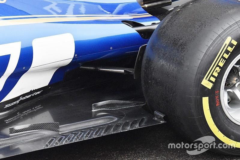 Sauber: c'è l'archetto davanti alle ruote posteriori della C36