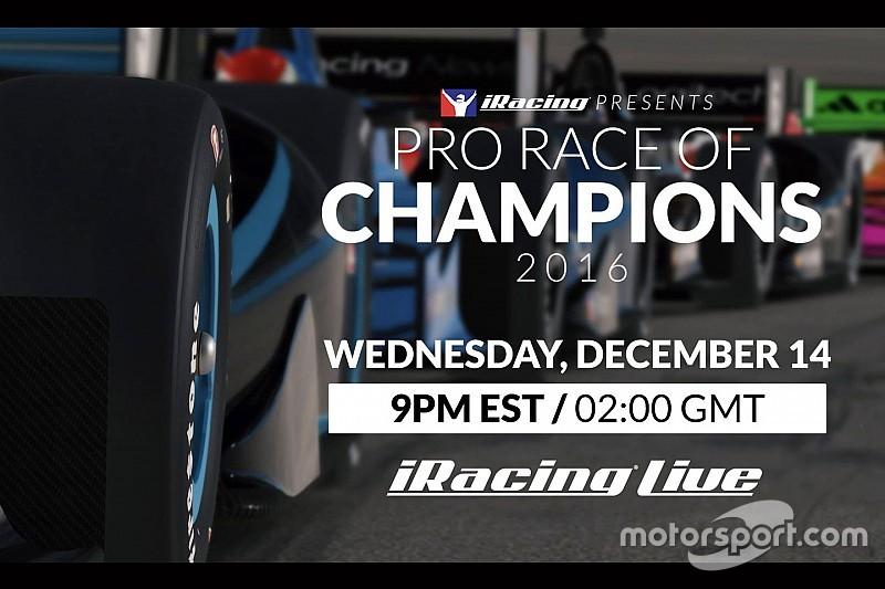 """iRacing organise sa """"course des champions"""" le 14 décembre"""