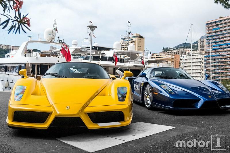 Photos - Deux Ferrari Enzo sur le port de Monaco