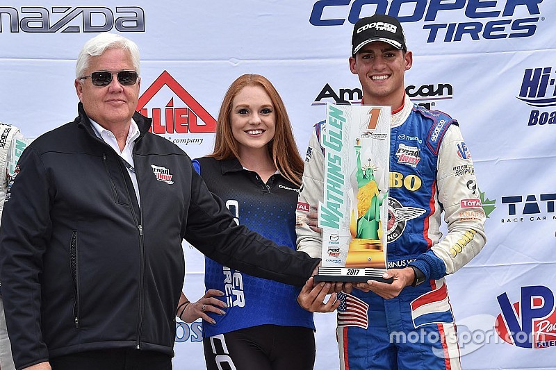 USF2000 runner-up VeeKay graduates to Pro Mazda in 2018