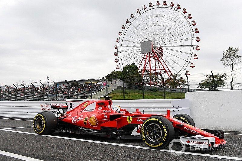 Vettel snelste in eerste training Japan, Sainz veroorzaakt rode vlag