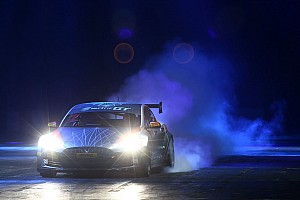 Automotive Breaking news EGT'S Tesla Model S stars in Autosport Show's live action arena