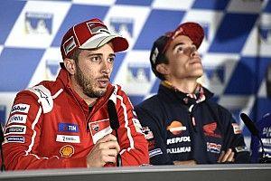Dovizioso está listo para luchar por todo y Márquez ahora es consciente