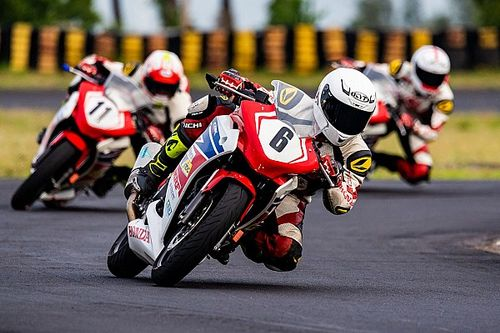 Coimbatore Honda Talent Cup: Senthil wins four-way scrap by 0.032s