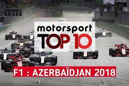 Vidéo - Le top 10 du GP d'Azerbaïdjan