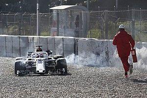 """Leclerc se enojó por cometer un error """"estúpido"""""""