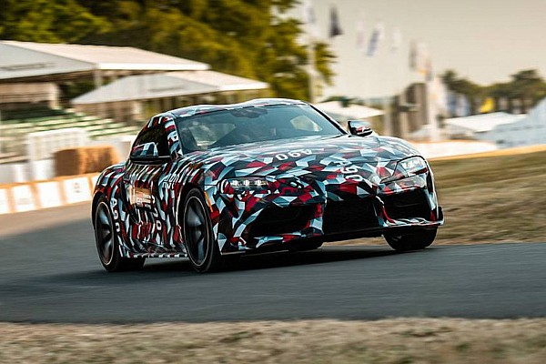 Automotive Breaking news Watch 2019 Toyota Supra make dynamic debut at Goodwood