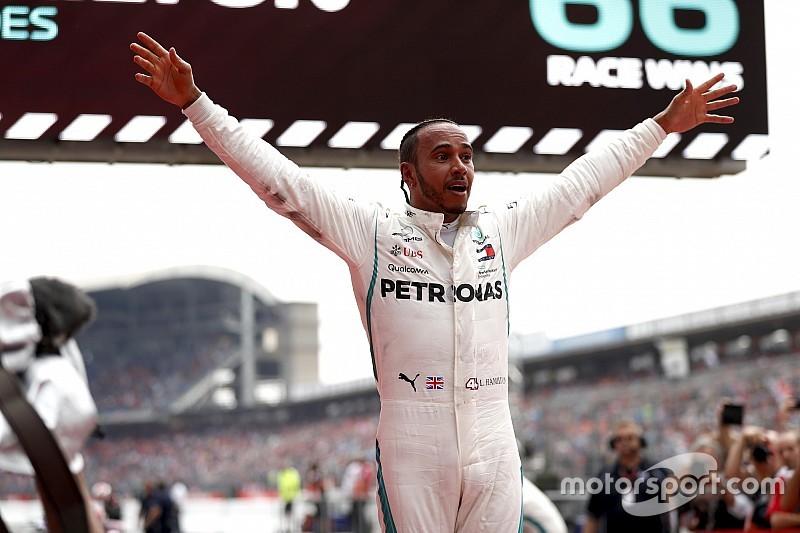 """Hamilton: """"Ho capito che potevo vincere quando ha cominciato a piovere"""""""